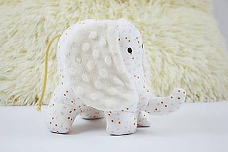 Hračky - Mäkučký sloník béžovo-ružový - 11945919_