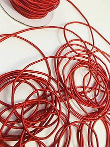Galantéria - Klobúková guma 2mm červená - 11947527_