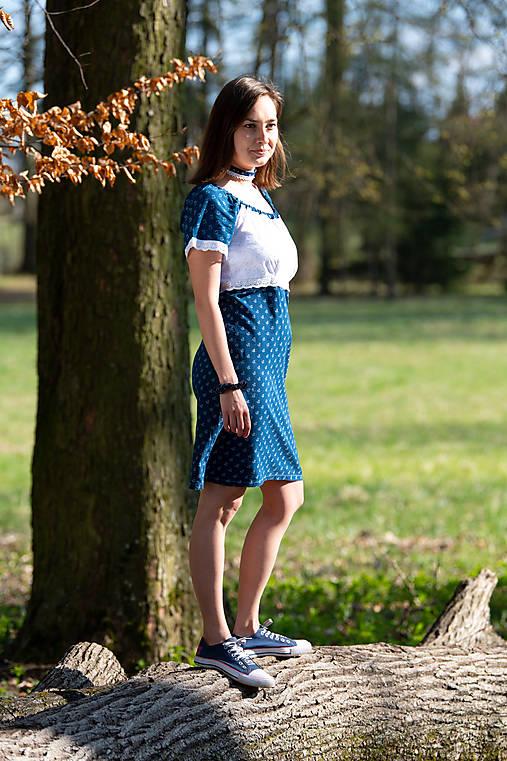 Šaty - Modrotlačové šaty - 11946718_