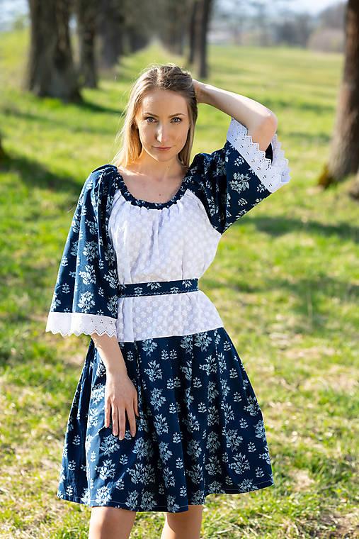 Šaty - Modrotlačové šaty  - 11946754_