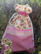 Úžitkový textil - Vrecúško ružové jahodové - 11948710_