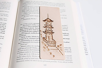 """Papiernictvo - Drevená záložka do knihy """"Na návšteve v Japonsku"""" - 11948695_"""