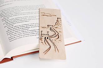 """Papiernictvo - Drevená záložka do knihy """"Čínsky múr"""" - 11948730_"""