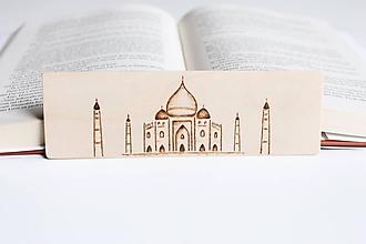 "Papiernictvo - Drevená záložka do knihy ""Tádž Mahal"" - 11948783_"