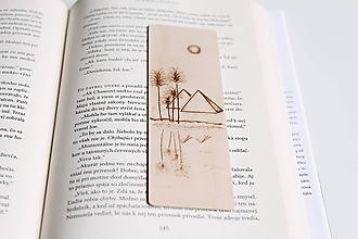 "Papiernictvo - Drevená záložka do knihy ""Egyptské pyramídy"" - 11948811_"