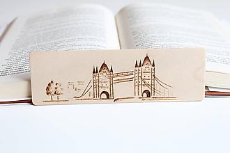 """Papiernictvo - Drevená záložka do knihy """"Tower Bridge"""" - 11948873_"""