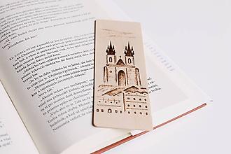"""Papiernictvo - Drevená záložka do knihy """"Kostol Matky Božej pred Týnom v Prahe"""" - 11949006_"""
