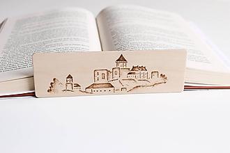 """Papiernictvo - Drevená záložka do knihy """"Trenčiansky hrad"""" - 11949024_"""