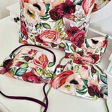 Rúška - Rúško 3D letné kvety - 11949532_