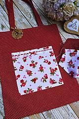 Nákupná taška+ rúška ružička