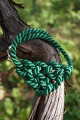 Náhrdelníky - Náhrdelník uzlový zelený - 11949017_