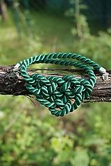 Náhrdelníky - Náhrdelník uzlový zelený - 11949027_
