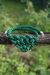 Náhrdelníky - Náhrdelník uzlový zelený - 11949031_