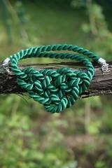 Náhrdelníky - Náhrdelník uzlový zelený - 11949036_
