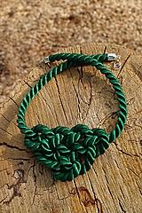 Náhrdelníky - Náhrdelník uzlový zelený - 11949046_