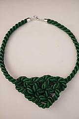 Náhrdelníky - Náhrdelník uzlový zelený - 11949048_