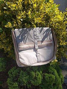 Tašky - Messenger ľanová taška - 11946351_