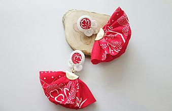 Náušnice - Náušnice Dve suknice(červené) - 11947037_