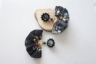 Náušnice - Náušnice Dve suknice(čierne) - 11947070_
