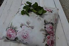 Úžitkový textil - Namixuj si svoj voňavý bylinkový vankúš-ružový kvet - 11946384_