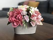 Dekorácie - Kvetinac plny kvetov - 11946575_