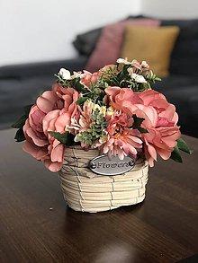 Dekorácie - Kosik kvetov - 11946538_