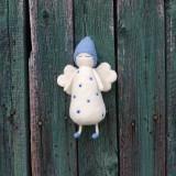 Dekorácie - Bodkovaný anjelik biely - 11949473_