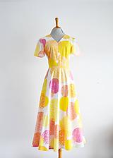 Šaty - Bavlnené šaty s farebnými kruhmi - 11946654_
