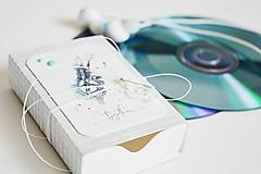 Krabičky - Darčeková krabička na slúchadká (banjo modré) - 11952105_