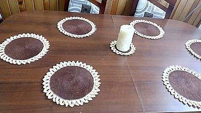 Úžitkový textil - háčkované prestieranie na stôl - slnečnice - 11951909_