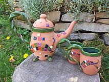 Nádoby - Čajová sűprava - mozaika - 11950854_
