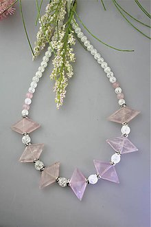 Náhrdelníky - ruženín a krištál náhrdelník luxusný - 11950467_
