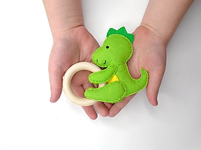 Hračky - Hrkálka do ručičky (Dráčik) - 11951707_