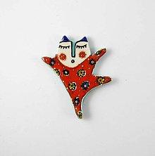 Odznaky/Brošne - TANA hand made jewellery - keramika/zlato - 11950309_