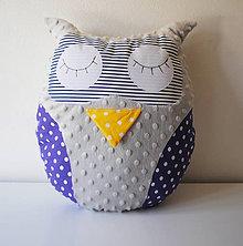 Textil - Vankúšik Sova - 11952362_