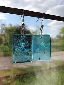 Náušnice - Púpava v modrom - 11954225_
