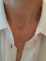 Náhrdelníky - Zlatý lotosový kvet - 11953961_