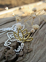 Náhrdelníky - Zlatý lotosový kvet - 11953964_