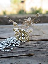 Náhrdelníky - Zlatý lotosový kvet - 11953968_