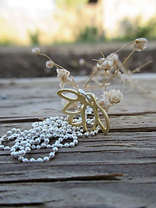 Náhrdelníky - Zlatý lotosový kvet - 11953969_