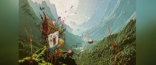 """Obrazy - """"ฝัน"""" FOTOreprodukcia 17cm x 9,5cm - 11952507_"""