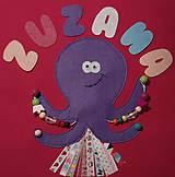 Hračky - Veselá chobotnička (quietbook stránka) - 11953618_