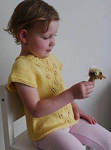 Detské oblečenie - Pletená tunika s listami - 11952844_