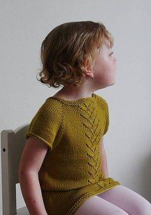 Detské oblečenie - Pletená tunika Olivia - 11953004_