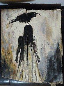Obrazy - devian art na starych drevených doskách - 11954072_