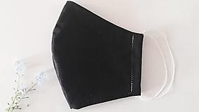 Rúška - rúško čierne (Veľmi pohodlné, prievzdšné) (dámska (vnútro hrubšia bavlna)) - 11950897_