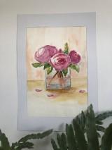 Obrazy - Váza pivoniek - 11951890_