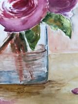 Obrazy - Váza pivoniek - 11951892_