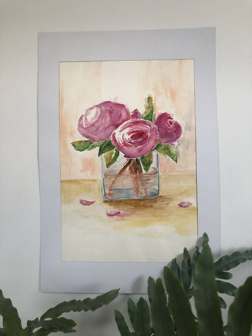 Váza pivoniek