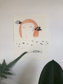 Kresby - Morská panna - 11951999_